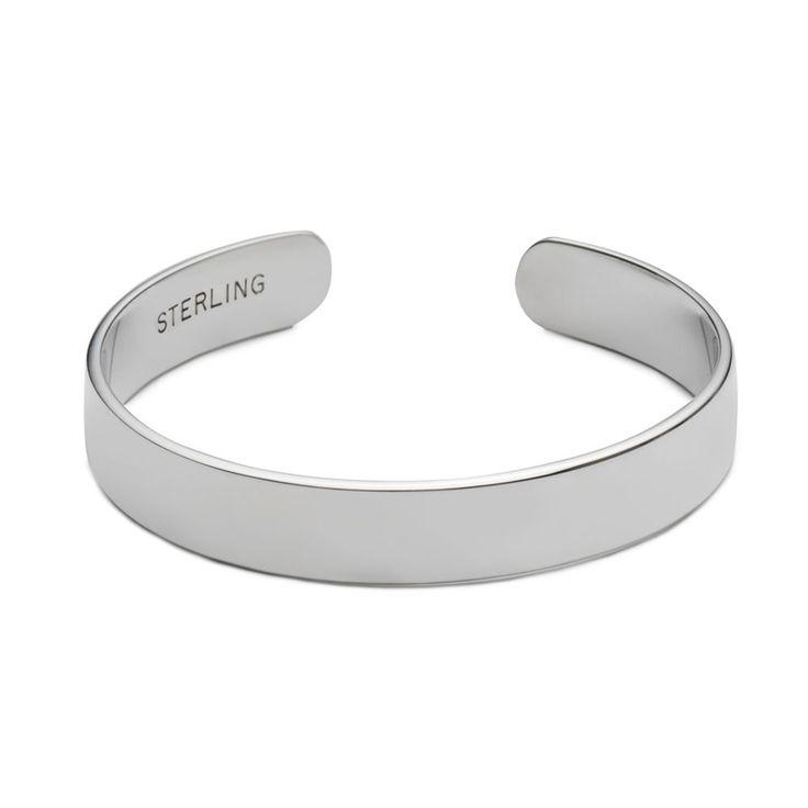 Plain Sterling Baby Bracelet