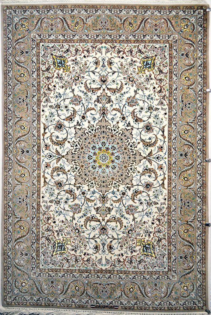 Isfahan Silk Persian Rug