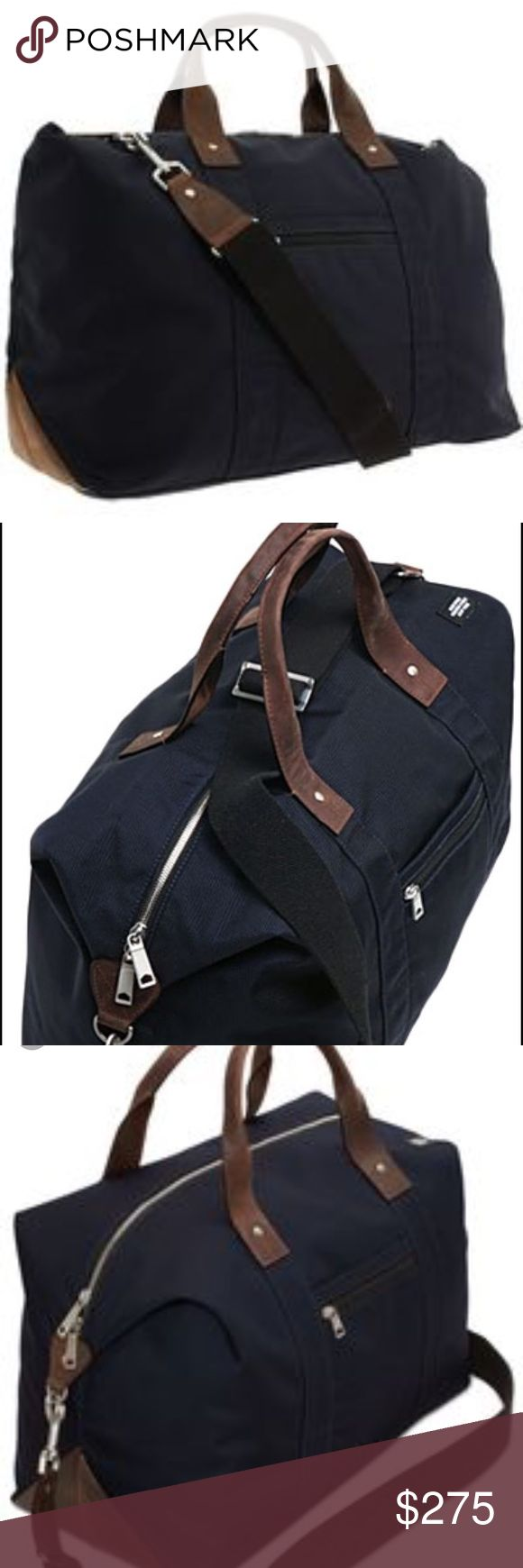 Jack Spade duffle bag Beautiful travel duffle bag by jack spade with leather straps. No damage originally $400 Jack Spade Bags Travel Bags