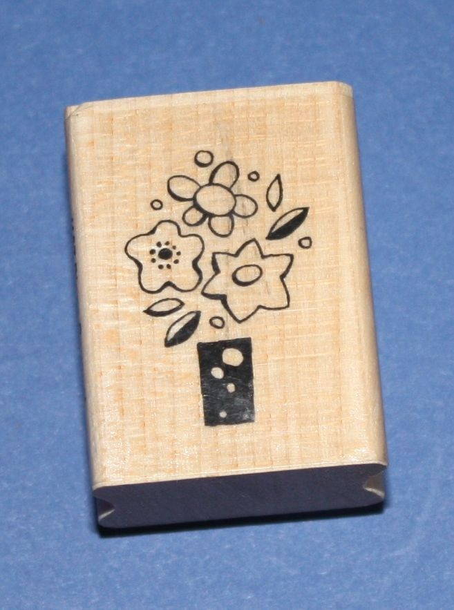 NEW Stampendous  Pippa Bouquet  J157 Wooden Backed Rubber Stamp - SALE