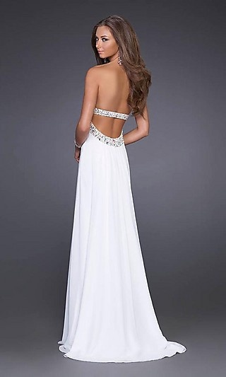 I wouldnt wear white but I love this dress!: White Formal Dresses, Wedding Dressses, Wedding Dresses, Receptions Dresses, White Prom Dresses, Whitedress, White Dresses, Prom Dresses Lov, White Gowns