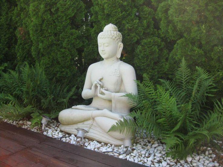 Homokkő Buddha szobor Baliról.