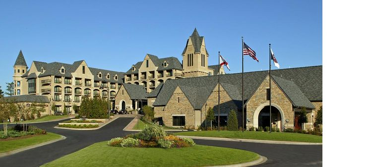 Birmingham, AL  - Renaissance Birmingham Ross Bridge Golf Resort & Spa.  Ranks #1 out of 553 Alabama Hotels based on an evaluation of expert ratings and awards, as well as user reviews.  The  grounds include a driving range, a 72-par golf course and an Aveda spa.