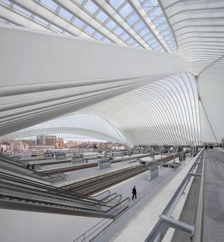 Железнодорожный вокзал TGV Guillemins / Льеж (галерея) - Сантьяго Калатрава - Архитекторы Инженеры и