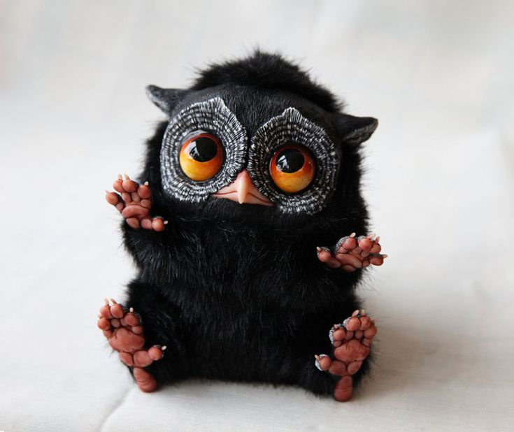 A 23yr old Russian Artist Creates Adorably/Creepy/ Fantasy Dolls | DeMilked - she combines fantasy & realism in her impressive doll sculptures. Santani creates these dolls using materials like fimo clay, cernit, sculpey, sonnet and fabric fur, which makes the solid sculptures look like fluffy creatures. Some can't believe these cute little creatures aren't real. Even though they elicit different associations, they're in great demand. ♥♥♥AWESOME♥♥♥