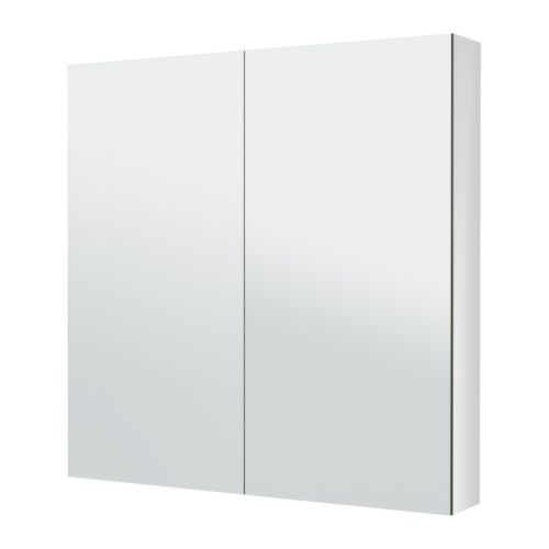 """IKEA - GODMORGON, Mirror cabinet with 2 doors, -, 39 3/8x5 1/2x37 3/4 """", , The mirror comes with safety film on the back, which reduces the risk of injury if the glass is broken."""