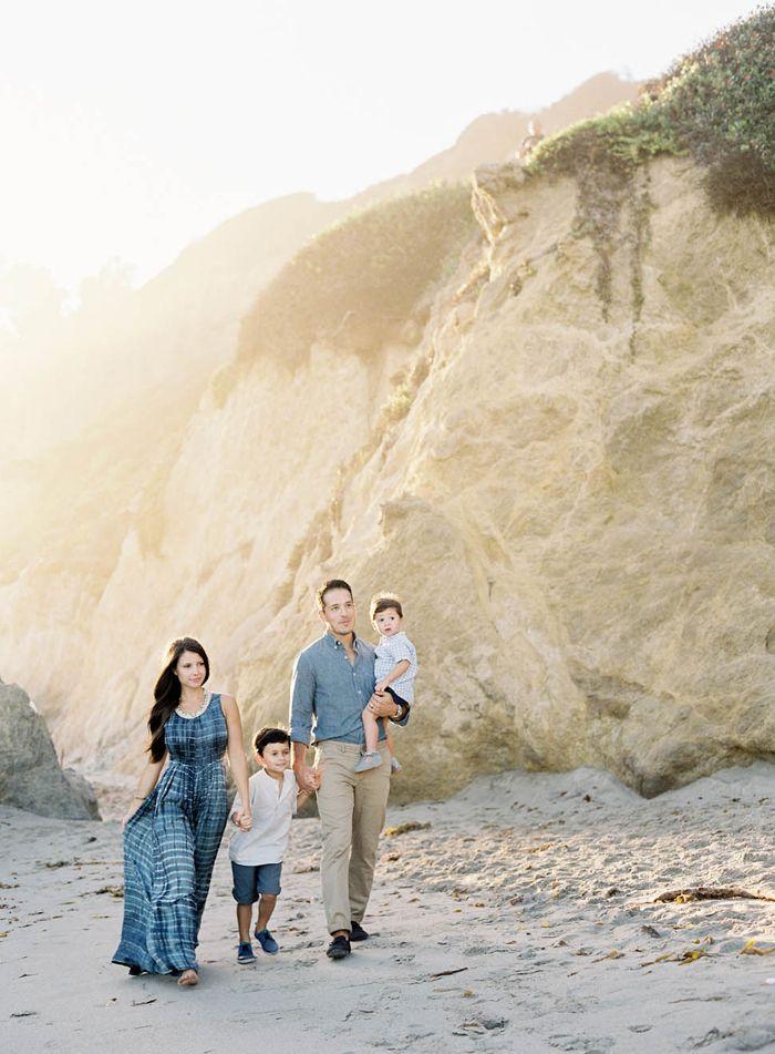 Photographer Jen Huang | Light Filled Family Shoot on Film | Contax 645 | Indigo and Ocean Blue Family Session Attire | Beach Family Shoot | JenHuangBlog.com
