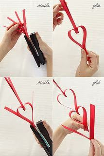 Card-Blanc by Kathy Martin: Heart Paper Chain
