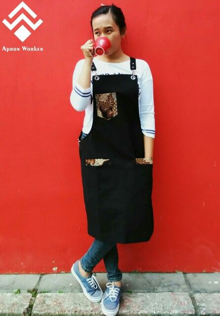BATIK Wear it, proud of it ! Because we are Indonesia Design apron by @apron_worker
