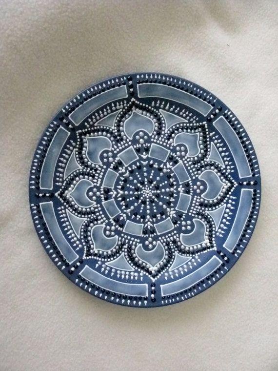 Hand painted mandala style