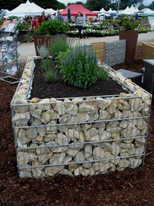 12 Simple DIY Raised Garden Ideas You Can Do Rock Gabion ... on rock gardening designs, perennials rock garden designs, rock flower beds designs, stone raised garden bed designs, rock wall raised garden beds, rock drainage designs,