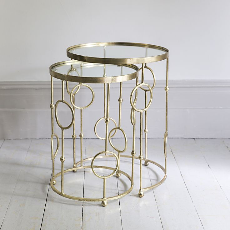 Exceptional Chiswick Glass Nesting Side Tables Www.atkinandthyme.co.uk