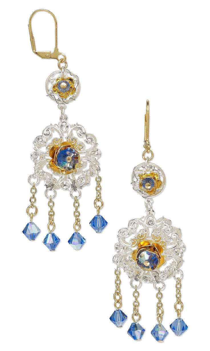 A Uniquebo Of Crystals With Mixed Metal Beads And Findings For Fun  #diyearrings #