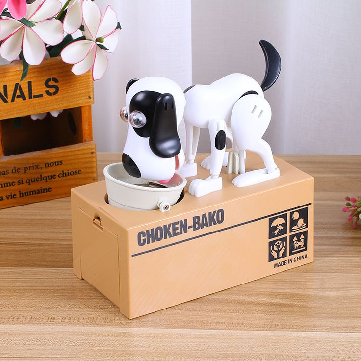 Cute Automatic Dog Eat Stolen Coin Piggy Bank Creative Money Saving Safe Box Gifts For Kids Digital Coin jar alcancia de gato -- More details can be found by clicking on the image. #HomeDecor