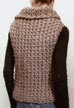 Instructions to Make: the Tunisian Crochet Vest by karenclements                                                                                                                                                                                 Mais
