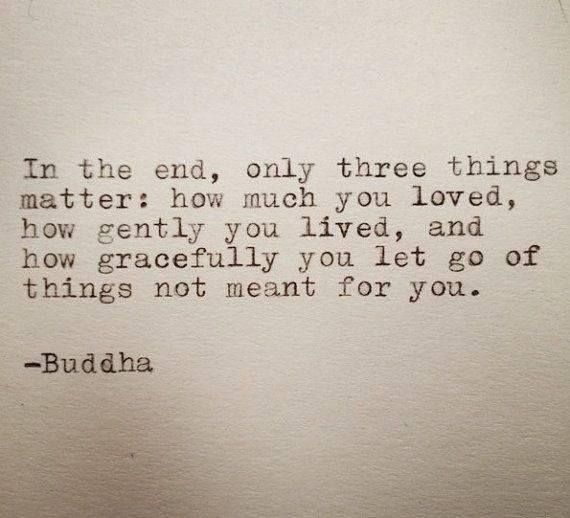 At the end, you have to let it go...