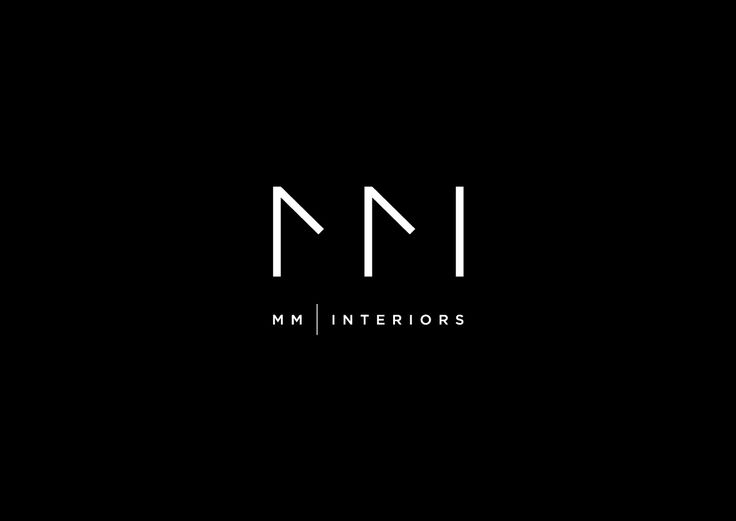 Mm interiors logo logo design minimal by dimiter for Interior design logo inspiration