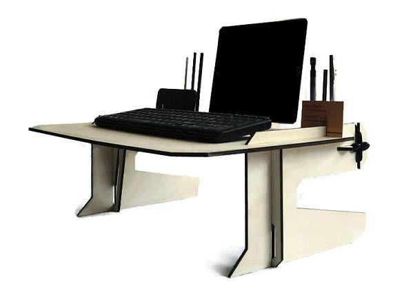 Laser cut wood bed desklaptop deskwood tablet standlaptop