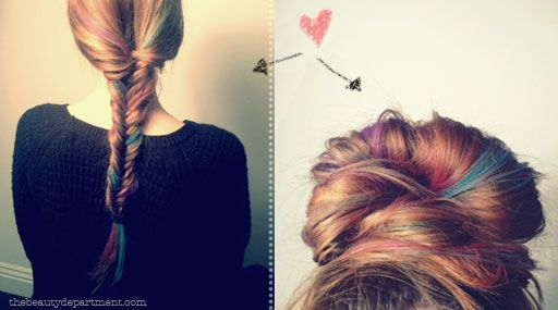 Try out some color in your hair w/ chalk. So smart!