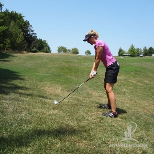 Learn to effectively hit off of uneven lies to avoid big numbers