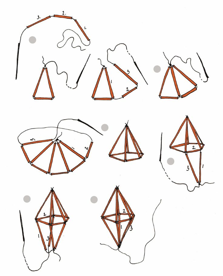 geometric straw diamond tutorial | Scribd - I am obsessed with himmeli mobiles now.  Such good idea for making sims cystal :D