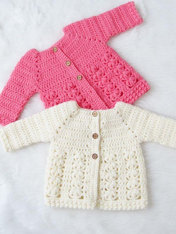 Textured Crochet Baby Sweater Pattern   bebes   Pinterest ...