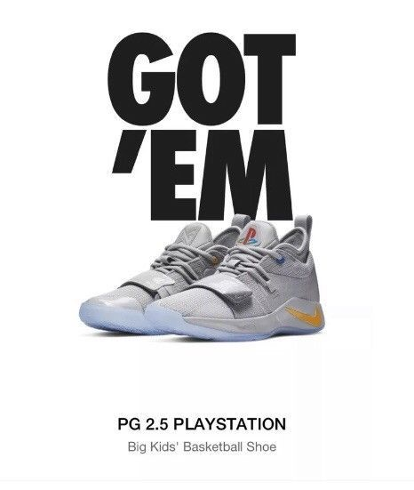e3b10ee5c18 Nike PG 2.5 Playstation Size 6.5Y Paul George Limited Edition DS ...