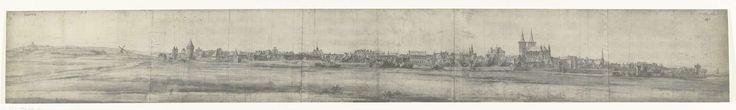 frères Moreau   Gezicht op Xanten, 1672, frères Moreau, Adam Frans van der Meulen, 1900 - 1903   Foto van een tekening met een panoramisch gezicht op Xanten, ingenomen door het Franse legers op 8 juni 1672. Onderdeel van een serie foto's van tekeningen van veroverde steden tijdens de Franse inval in de Nederlanden in 1672.