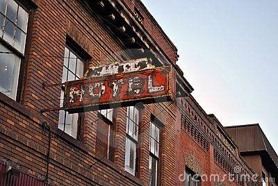 Olympus Motel, Boise, Idaho.  Old Boise Hotel Sign