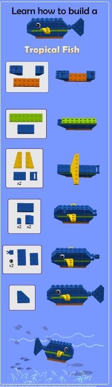 Build your own LEGO® tropical fish!