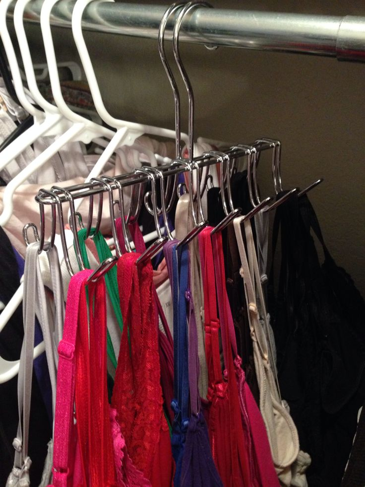 walmart tie hangers are perfect for organizing camisoles