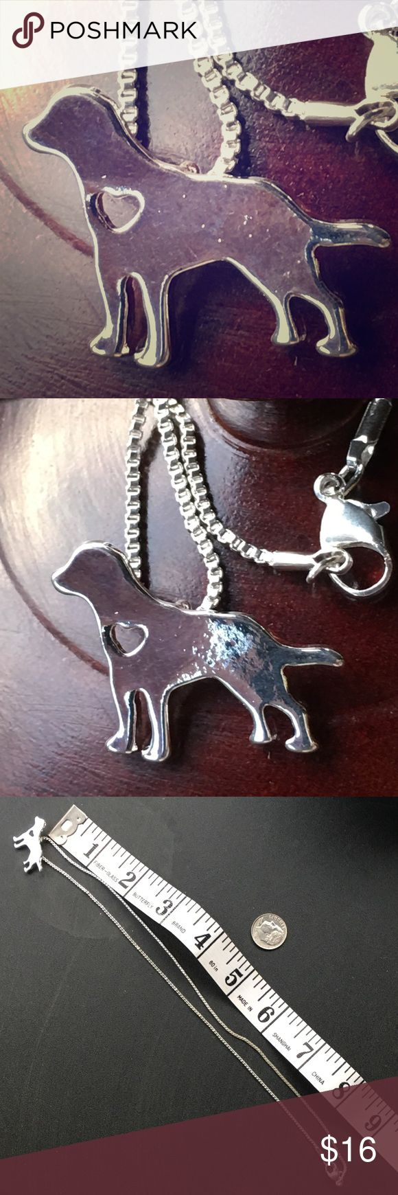 Irish setter / Labrador retriever love ❤️ necklace Adorable doggie necklace. Perfect gift for any dog lover. Irish setter / Labrador retriever love ❤️ necklace. This silhouette can represent many breeds including black lab, yellow lab golden retriever , or your favorite mutt. Jewelry Necklaces
