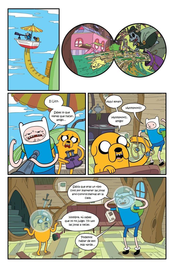 5ta página de historieta de Comic#1 Hora de Aventura en Español Latino