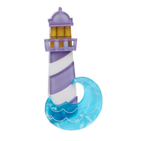 """Erstwilder Limited Edition Round The Twist Brooch. """"Have you ever had to replace the light bulb in one of these? Us neither. Enough to send you…"""""""