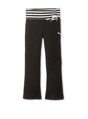 35% OFF Puma Girl's Striped Yoga Pant (Black)