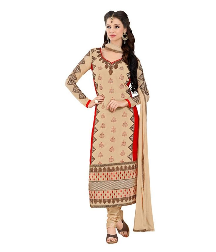Loved it: Monalisa Fabrics Brown Faux Georgette Unstitched Dress Material, http://www.snapdeal.com/product/monalisa-designer-chickoo-georgette-patiala/647975762599