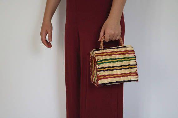 Portuguese traditional bag, Reed Bag with handles, small bag, handmade, handbag, market bag, summer basket, natural basket.