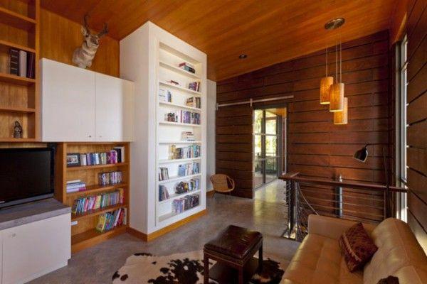 An elegant residence overlooking the Lake-shelf living room Cabinet