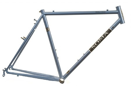 Soma Fab Double Cross Frameset in Gun Metal Blue Matte - Solid all-around frame