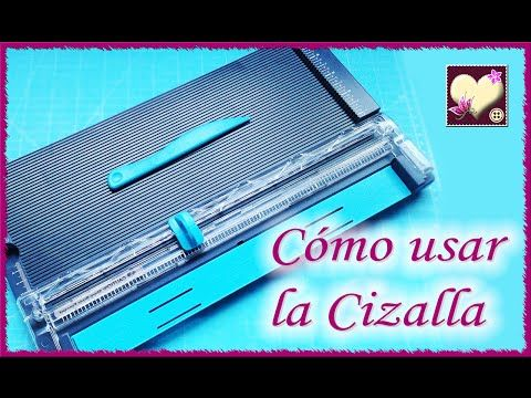 Cómo usar la cizalla ( We R Memory Keepers) Tutorial. - YouTube