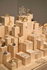 Great custom wood platform block display idea #mainebucket #retail #displays