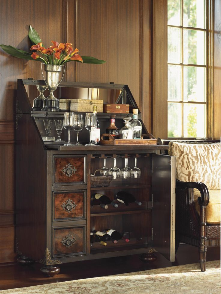 What better place to mix up your own mai tai or mojito than at your own, gorgeous, tropical bar cabinet.