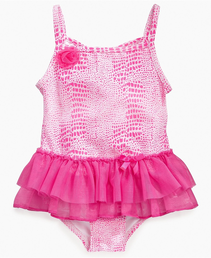 Baby girl swimsuit with tutu-3673