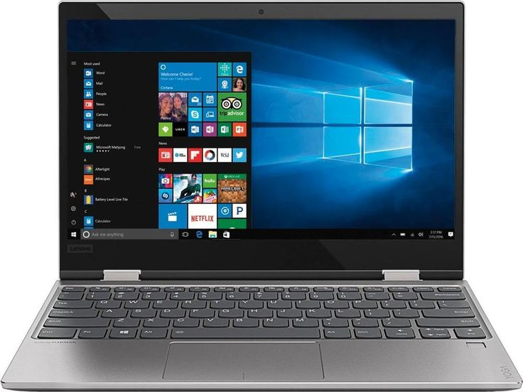 "Lenovo - Yoga 720 12.5"" Touch-Screen Laptop - Intel Core i3 - 4GB Memory - 128GB Solid State Drive - Platinum (White)"