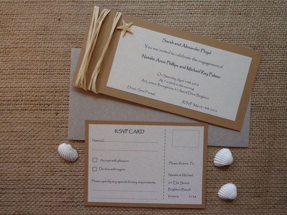 Beach Wedding Stationery Pack Invitation RSVP by CreateTheDate, $12.65