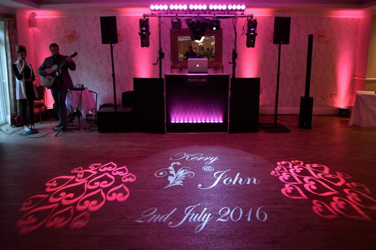 The Laser Show with Uplighting & Monogram at the Beaulieu Hotel - DJ Martin Lake