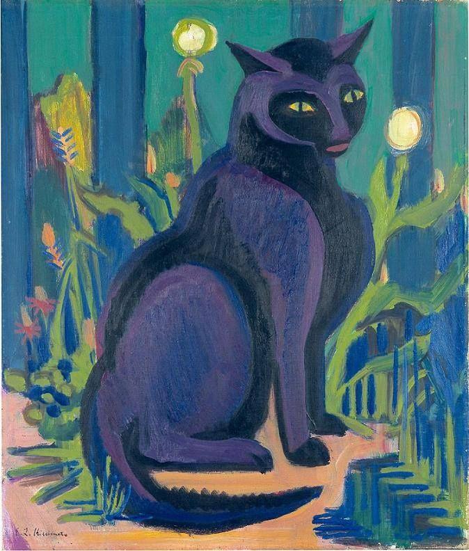 Ernst Ludwig Kirchner, Schwarzer Kater (Boby), 1924/28; Privatbesitz