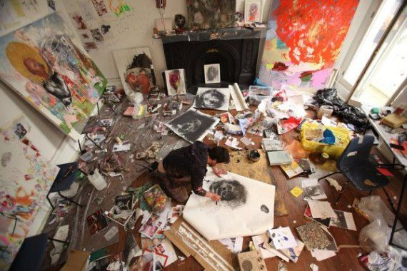44 Stunning Art Studios That Will Inspire You To Get Back To Work Your own studio doesn't need tons of money, lots of space or even a door.  http://www.huffingtonpost.com/2014/08/15/art-studio_n_5676343.html?utm_hp_ref=tw