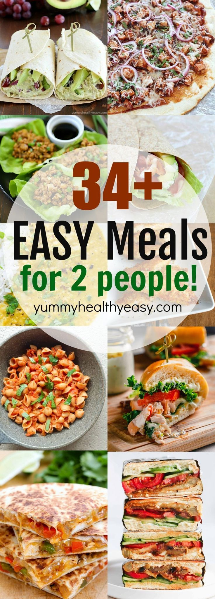 34 Easy Meals For Two Easy Meals Easy Meals For Two Healthy Meals For Two
