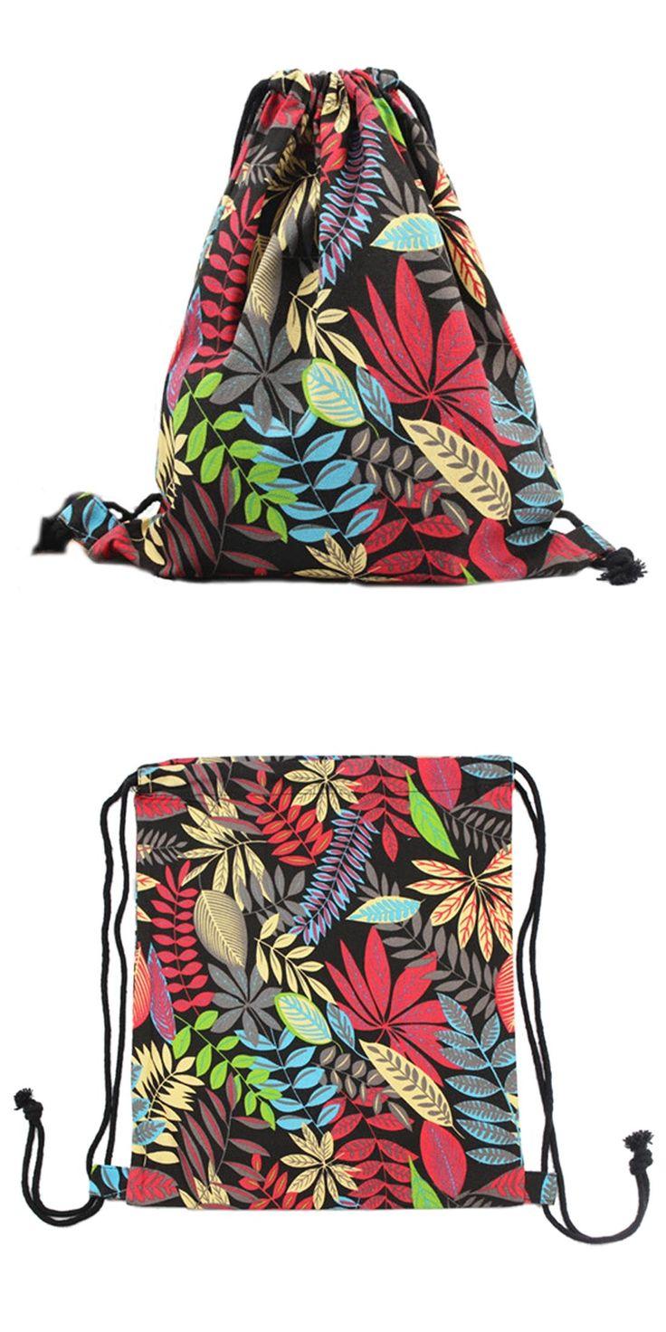 [Visit to Buy] Fashion  Canvas Pulling rope Bundle port shoulder bag(monolayer&Double-deck) #Advertisement
